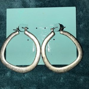 Premier Designs Silver Round About Hoops